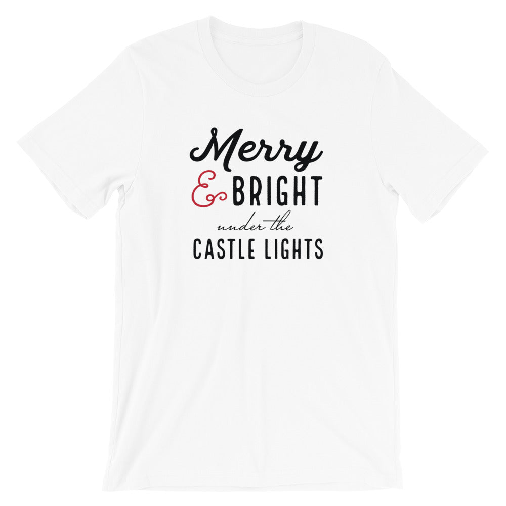 Christmas Castle Lights Short-Sleeve Unisex T-Shirt - Next Stop Main Street