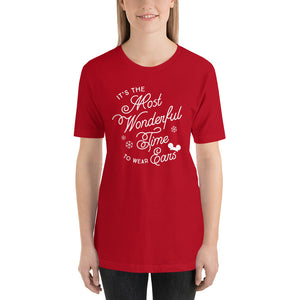 Christmas It's the Most Wonderful Time to Wear Ears T-Shirt (more colors available)