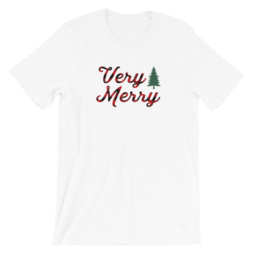 Christmas Very Merry Short-Sleeve Unisex T-Shirt - Next Stop Main Street