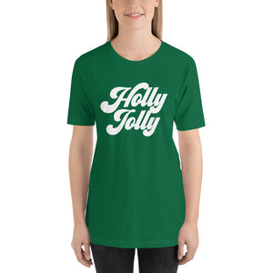 Christmas 70s Holly Jolly Short-Sleeve Unisex T-Shirt - Next Stop Main Street