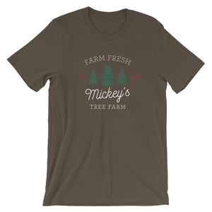 Christmas Mickey's Tree Farm Dark Short-Sleeve Unisex T-Shirt