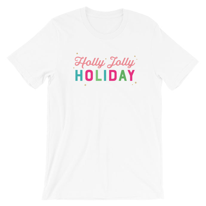 Christmas Holly Jolly Holiday Short-Sleeve Unisex T-Shirt (more colors available) - Next Stop Main Street