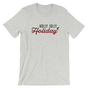 Christmas Holly Jolly Holiday Buffalo Plaid Short-Sleeve Unisex T-Shirt - Next Stop Main Street