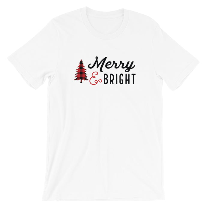 Christmas Merry and Bright Short-Sleeve Unisex T-Shirt