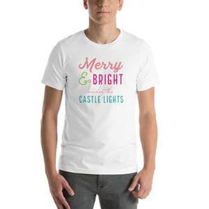 Christmas Castle Lights - Colorful Short-Sleeve Unisex T-Shirt (more colors available)