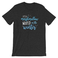 Load image into Gallery viewer, Christmas Marshmallow World in the Winter Dark Short-Sleeve Unisex T-Shirt - Next Stop Main Street