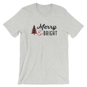 Christmas Merry and Bright Short-Sleeve Unisex T-Shirt - Next Stop Main Street