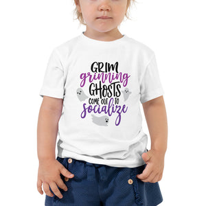 Halloween Grim Grinning Ghosts TODDLER Short Sleeve Tee - Next Stop Main Street