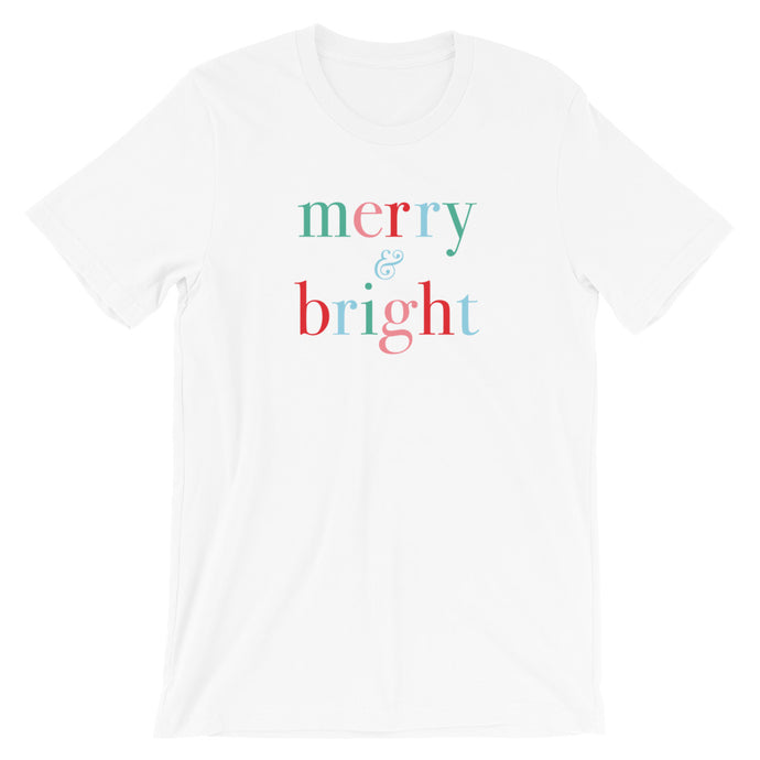 Christmas Classic Merry and Bright Unisex T-Shirt - Next Stop Main Street