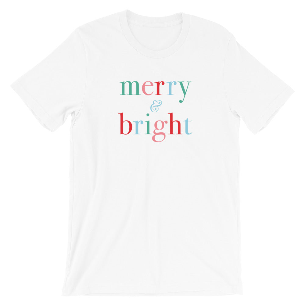 Christmas Classic Merry and Bright Unisex T-Shirt