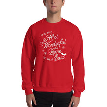 Load image into Gallery viewer, Christmas It's the Most Wonderful Time to Wear Ears Unisex Sweatshirt (more colors available)