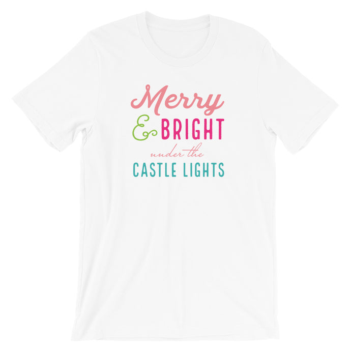 Christmas Castle Lights - Colorful Short-Sleeve Unisex T-Shirt (more colors available) - Next Stop Main Street