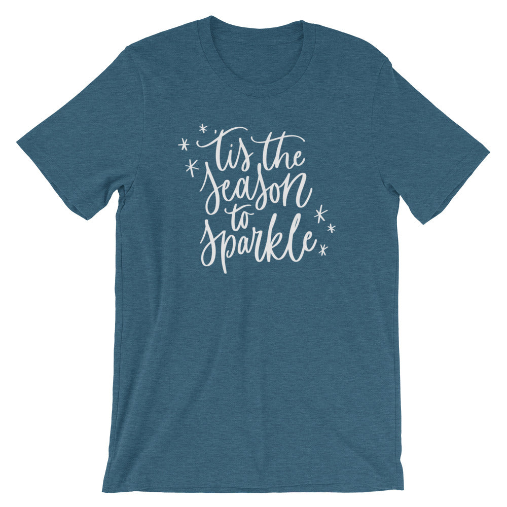 Christmas 'Tis the Season to Sparkle Short-Sleeve Unisex T-Shirt (more colors available)