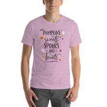 Load image into Gallery viewer, Halloween Pumpkins Sweets Spooks and Treats Short-Sleeve Unisex T-Shirt - Next Stop Main Street