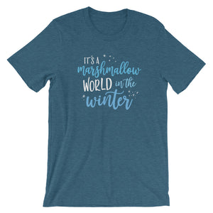 Christmas Marshmallow World in the Winter Dark Short-Sleeve Unisex T-Shirt - Next Stop Main Street