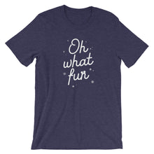 Load image into Gallery viewer, Christmas Oh What Fun Short-Sleeve Unisex T-Shirt - Next Stop Main Street