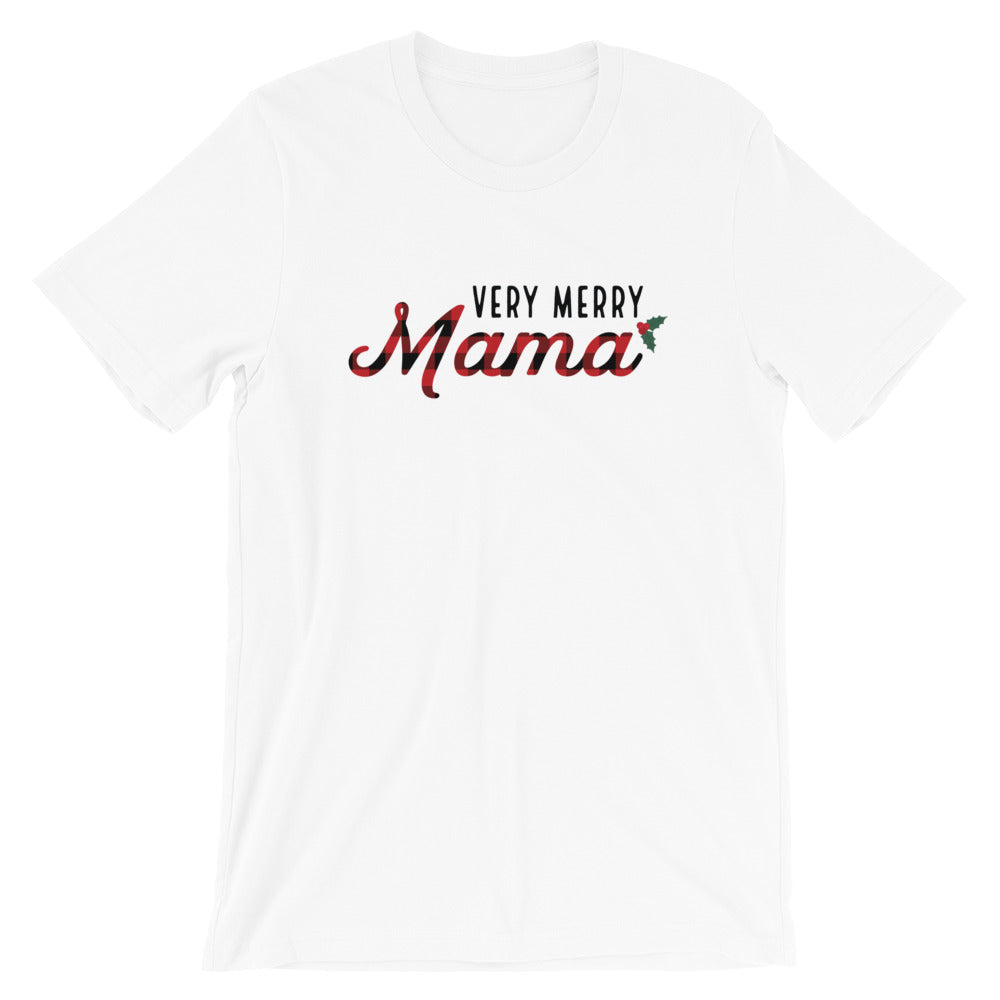 Christmas Very Merry Mama Light Short-Sleeve Unisex T-Shirt (more colors available) - Next Stop Main Street