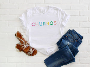 Rainbow Churros Short-Sleeve Unisex T-Shirt - Next Stop Main Street