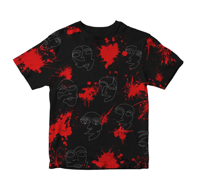 FACES TEE [BLACK]