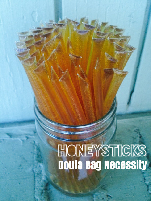 3 Reasons Honey sticks are a Doula Bag and Hospital Bag Necessity