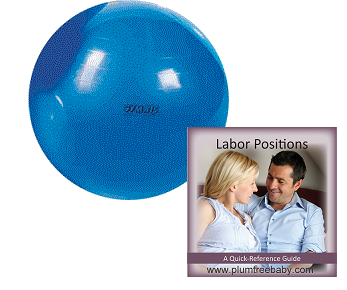 Birthing Ball and Labor Positions Guide is great for your hospital bag or doula bag
