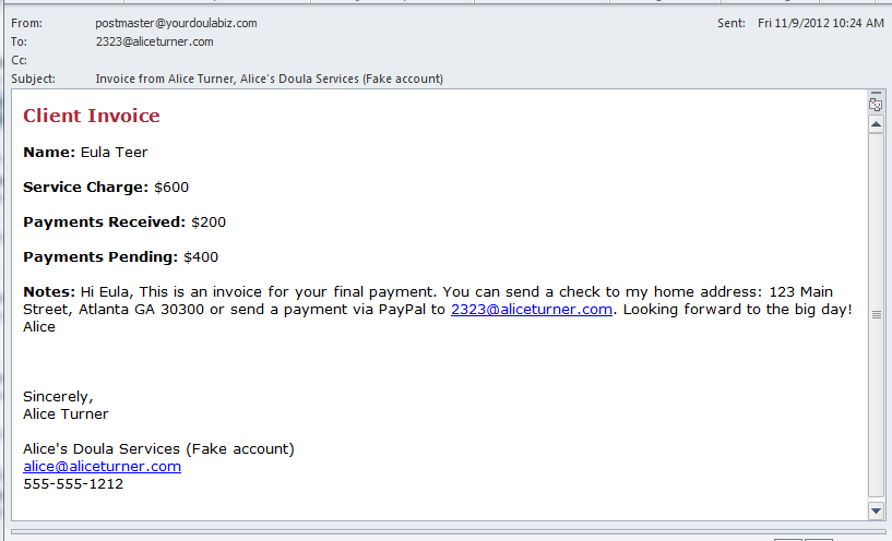 Getting paid love it and hate it yourdoulabag for How to send invoice to client