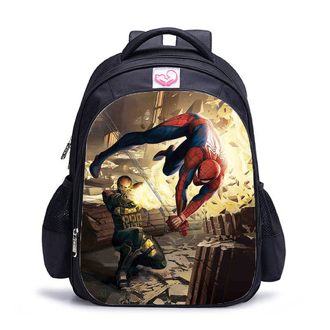 Sac à dos à l'effigie du Super Heros Spider-Man vs Super Vilain