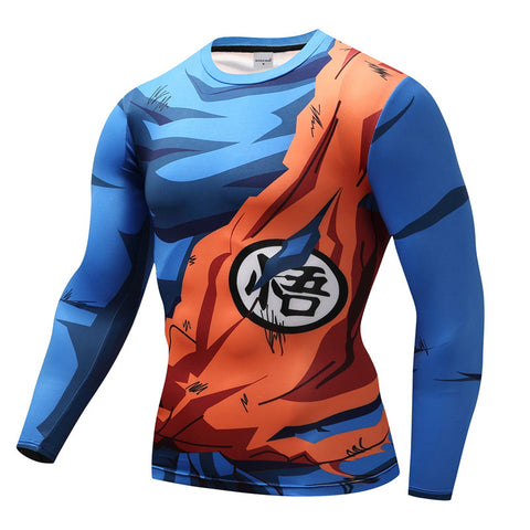 Tee shirt musculation long Dragon Ball Z Goku Combat