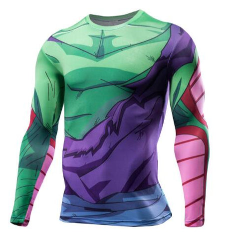 Tee shirt musculation long Dragon Ball Z Piccolo