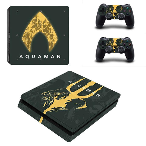 Stickers ps4 DC Comics à l'effigie du Super Heros Aquaman