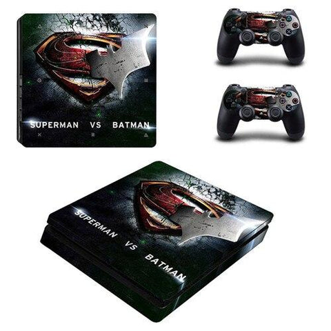 Stickers ps4 DC Comics à l'effigie du Super Heros DC Comics Superman vs Batman