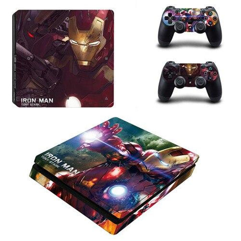 Stickers ps4 Marvel à l'effigie du Super Heros Iron Man Marvel