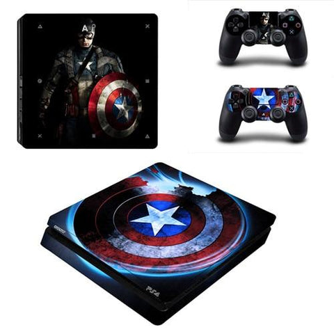 Stickers ps4 Marvel à l'effigie du Super Heros Marvel Avengers Captain America