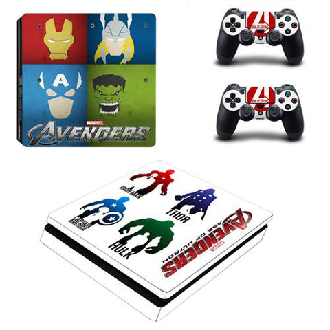 Stickers ps4 Marvel à l'effigie du Super Heros Marvel Avengers Comics