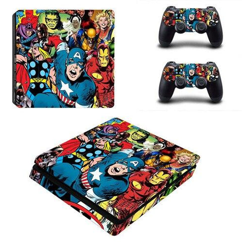 Stickers ps4 Marvel à l'effigie du Super Heros Marvel Avengers Endgame