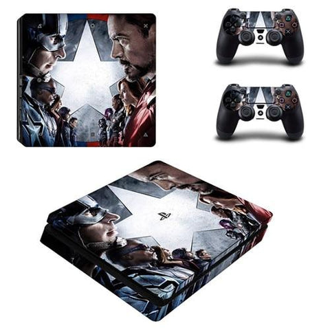 Stickers ps4 Marvel à l'effigie du Super Heros Marvel Avengers War