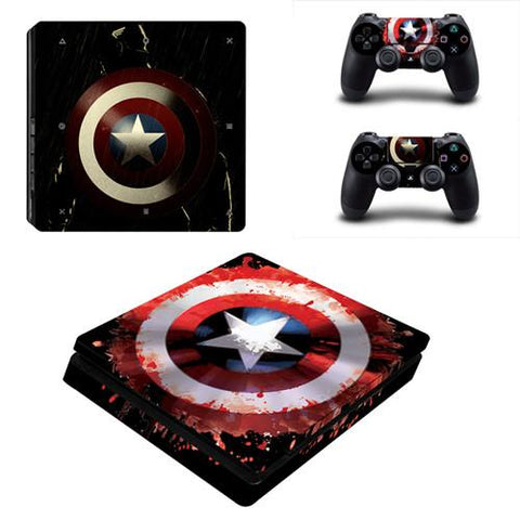 Stickers ps4 Marvel à l'effigie du Super Heros Marvel Captain America