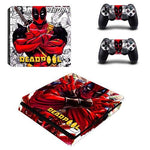 Stickers ps4 Marvel à l'effigie du Super Heros Marvel Deadpool