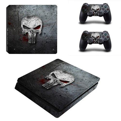 Stickers ps4 Marvel à l'effigie du Super Heros The Punisher Marvel
