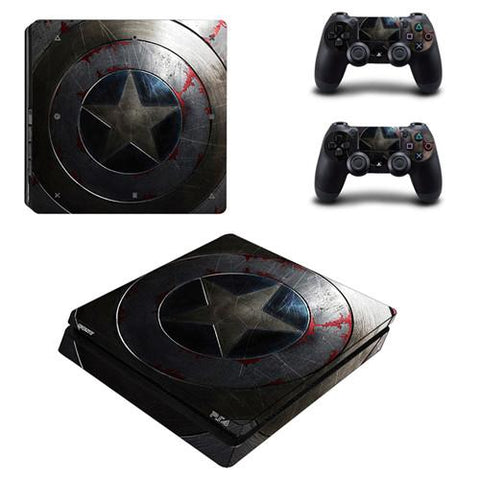 Stickers ps4 Marvel à l'effigie du Super Heros The Avengers Captain America
