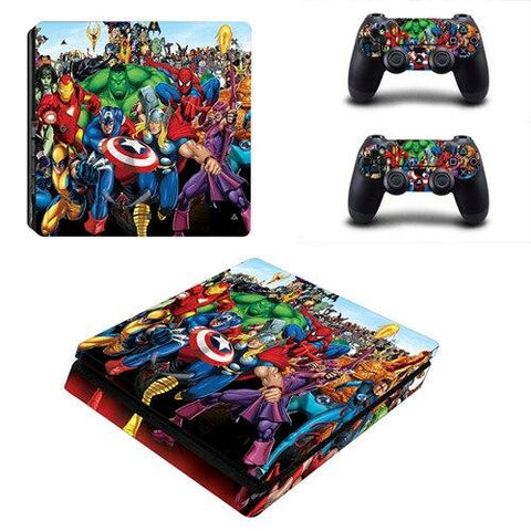 Stickers ps4 Marvel à l'effigie du Super Heros The Avengers Comics