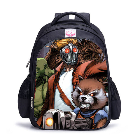 Sac à dos à l'effigie du Super Heros Marvel Star Lord et Rocket