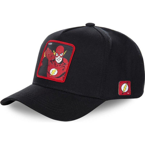 Casquette Marvel à l'effigie du Super Heros Flash de côté