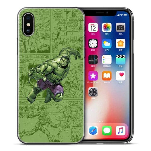 Coque iPhone à l'effigie du Super Heros Marvel Hulk