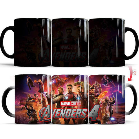 mug thermosensible à l'effigie des Super Heros Avengers 4