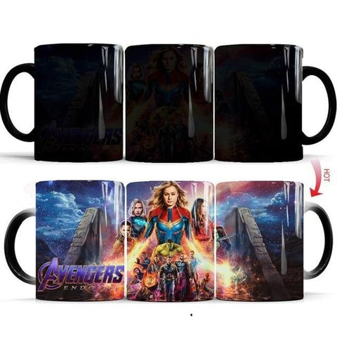 mug thermosensible à l'effigie des Super Heros Avengers Endgame