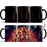 mug thermosensible à l'effigie des Super Heros Avengers Infinity War