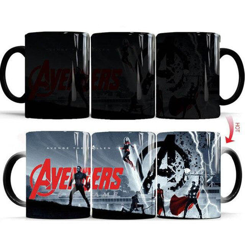 mug thermosensible à l'effigie des Super Heros The Avengers