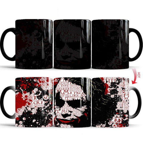 mug thermosensible à l'effigie de l'anti Super Heros DC Comics Joker