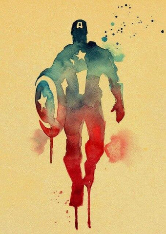 poster kraft à l'effigie du Super Heros Captain America
